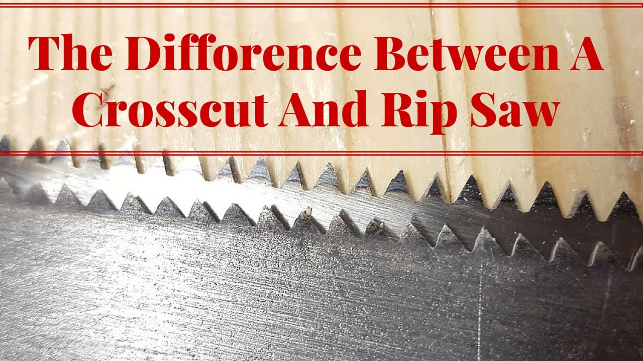 The difference between a crosscut and rip saw youtube the difference between a crosscut and rip saw keyboard keysfo Choice Image