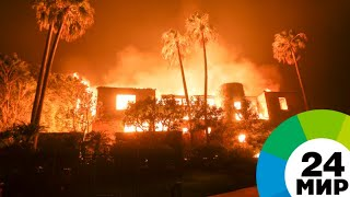 Жар Калифорнии: лесные пожары уничтожают дома голливудских звезд - МИР 24
