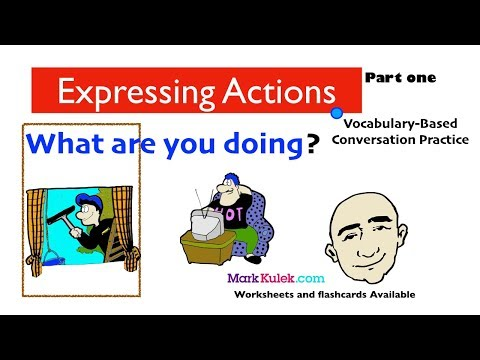 House and Home Vocabulary | Actions and Rooms - What Are You Doing? | English Speaking Practice