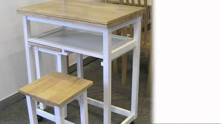 Compact Kitchen Breakfast Dining Set Available From Www.zfurniture.co.uk