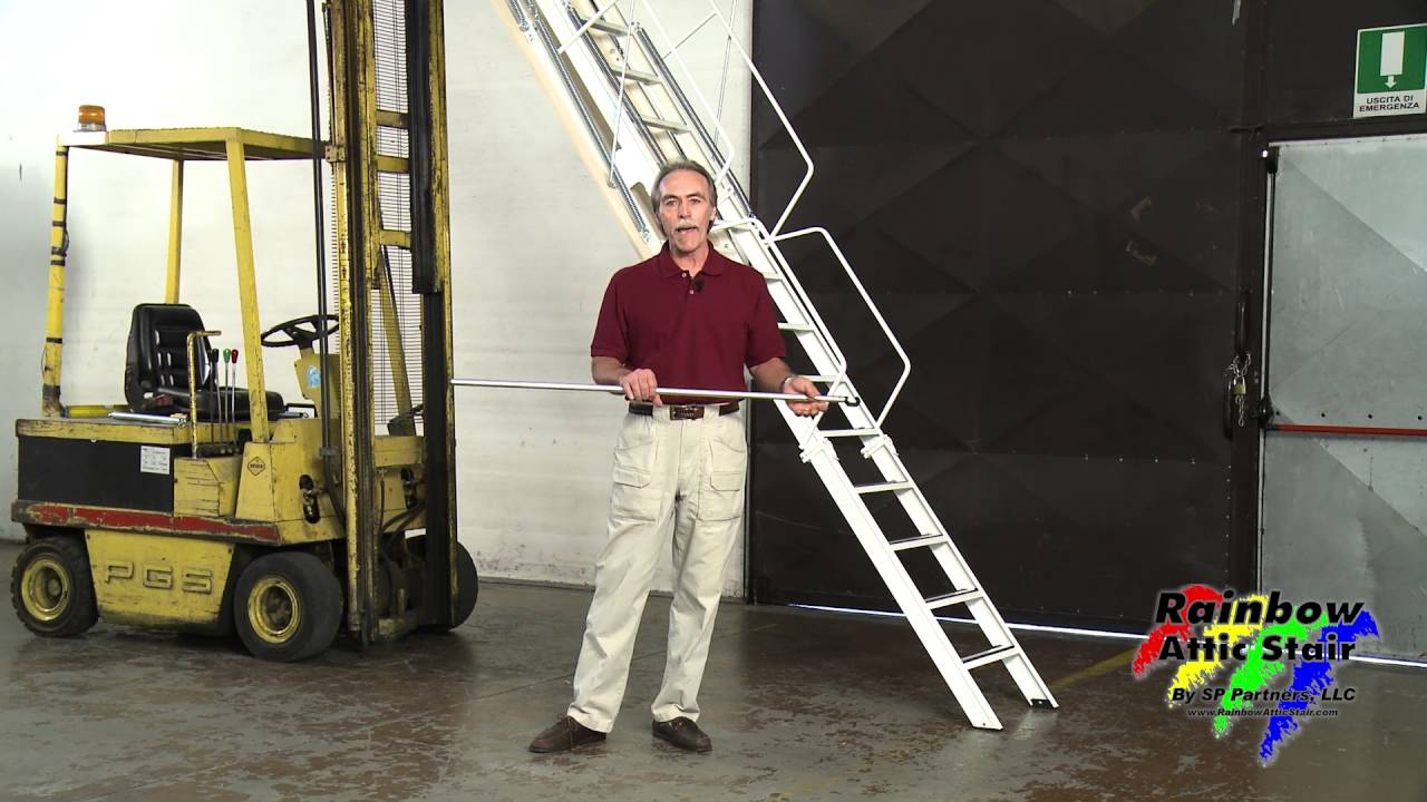 Rainbow Attic Stair G-Series Folding Attic Ladder & Rainbow Attic Stair G-Series Folding Attic Ladder - YouTube
