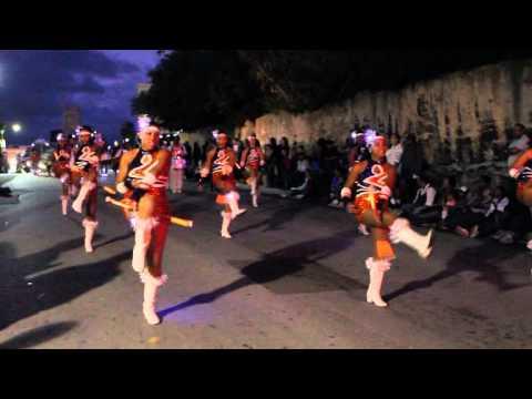 Warwick United Majorettes At Santa Parade Nov 27 2011