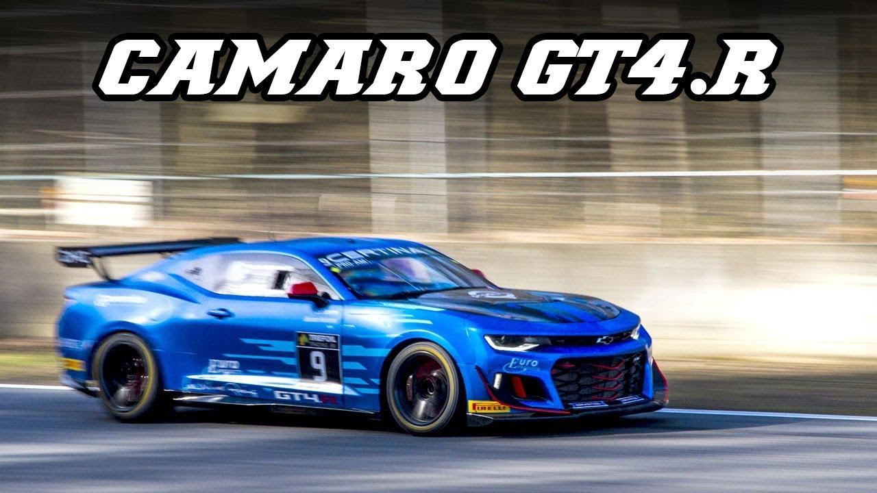 Camaro Gt4r >> Chevrolet Camaro GT4.R - V8 muscle power (Zolder 2018) - YouTube
