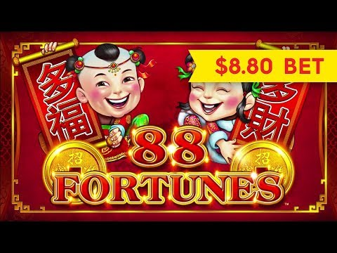 NEW! 88 Fortunes 3RM Slot - GREAT SESSION & BONUS - $8.80 Max Bet!