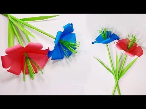 How to make paper flower| DIY Flower Making| Paper flower making tutorial | Jarine's Crafty Creation