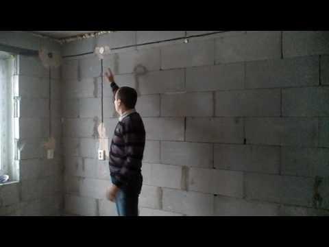 Монтаж скрытой электрической проводки под штукатурку для жилого дома