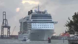Celebrity Eclipse Departing Port Everglades- 12/28/2013