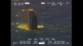 Sinking Ship at Sea Caught on Tape by Drone Real Footage taken from UAV Surveillance above Vessel