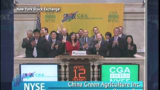 12 April 2010 China Green Agriculture Inc. Celebrates Transfer from NYSE Amex to NYSE