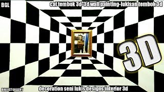 Cat tembok 3d-3d wall paint decoration-3d wall painting-lukisan 3d