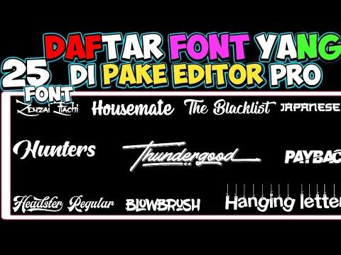 Disini saya akan share 6 jenis font / typography / bagi bagi font menarik yang harus dimiliki oleh p.