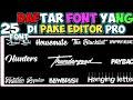 Gambar cover Kumpulan font yang sering dipake editor profont kerenlink di deskripsi