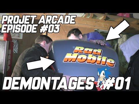 PROJET ARCADE #03 - DEMONTAGES #01 - RAD MOBILE & SPACE GUN