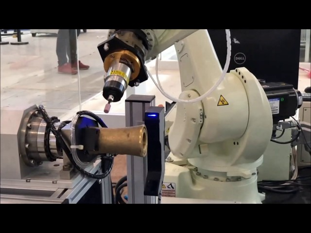 Automatic Polishing Application with QuellTech Laser Scanner and Kawasaki Robot - by Quadrep