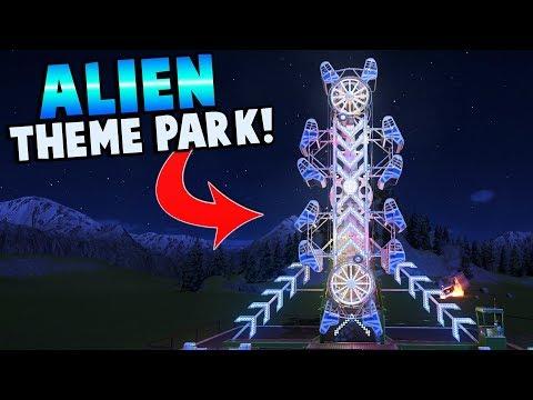 ALIEN THEME PARK?! ALIENS LANDED HERE! - Planet Coaster Gameplay - Building a Theme Park!
