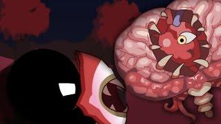 Stickman Vs Brain Of Cthulhu - Terraria Animation