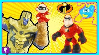 Incredibles and Thanos PLAY The Cootie Game by HobbyKidsTV