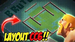 LAYOUT BRUTO PARA CC6 / BH6 - BASE DO CONSTRUTOR - CLASH OF CLANS