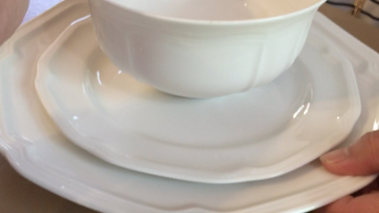 Mikasa Antique White 4-Piece Place Setting Service for 1 & Mikasa Antique White 4-Piece Place Setting Service for 1 - YouTube