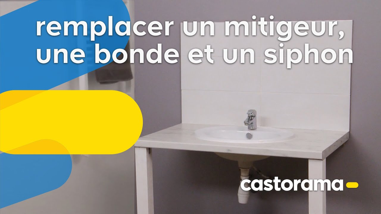 Remplacer un mitigeur une bonde et un siphon castorama for Remplacer un receveur de douche