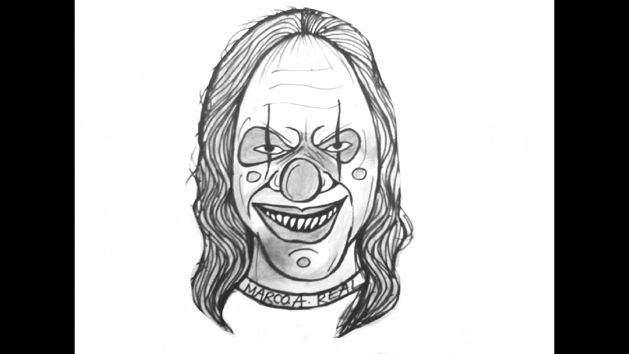 Lets Learn Tohow To Draw A Killer Clown Creepy