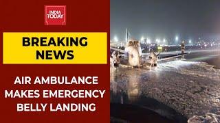 Air Ambulance Makes Emergency Belly Landing At Mumbai Airport After Malfunction   Breaking News