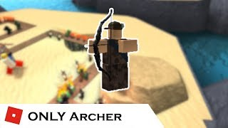 How far can You go with ONLY Archer? | Tower Battles [ROBLOX]