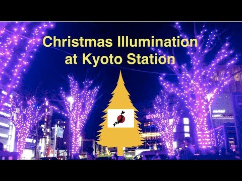 【View Walk】Christmas Illumination at Kyoto station