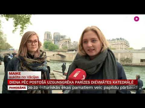 Diena pēc postošā ugunsgrēka Parīzes Dievmātes katedrālē