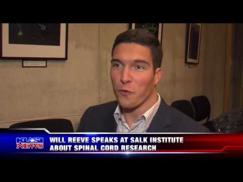 KUSI - Will Reeve Speaks at Salk Institute About Spinal Cord Research