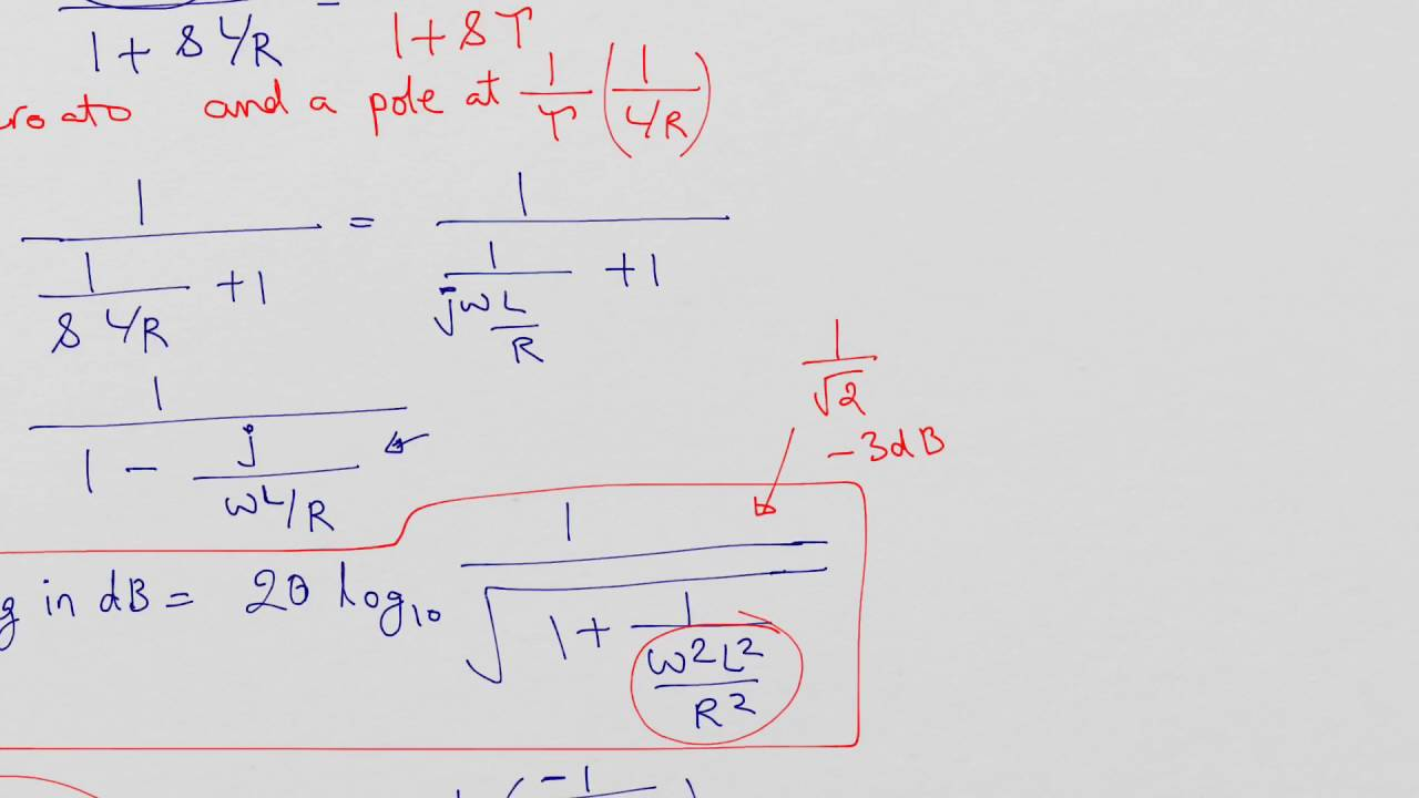 Rl High Pass Filter One Zero Pole Magnitude Phase And 3db Diagram Frequency