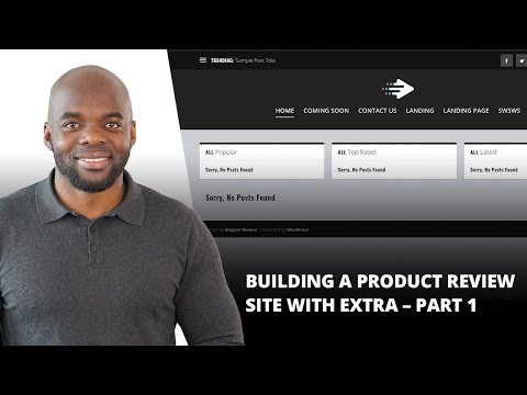 Building a Product Review Site with Extra – Part 1