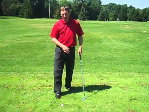 How To Hit Down On The Golf Ball - YouTube