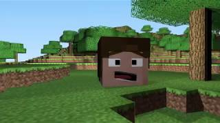 Minecraft head mode...a funny animation