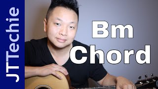 How to Play Bm Chord on Acoustic Guitar | B Minor Bar Chord