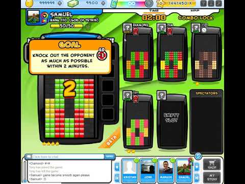 Tetris Battle Arena - JAVA Minos - 230 Lines Sent (9 Games)
