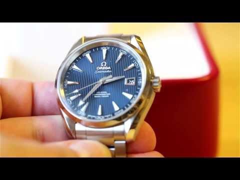 Unboxing Omega Seamaster Aqua Terra 41.5 mm blue dial