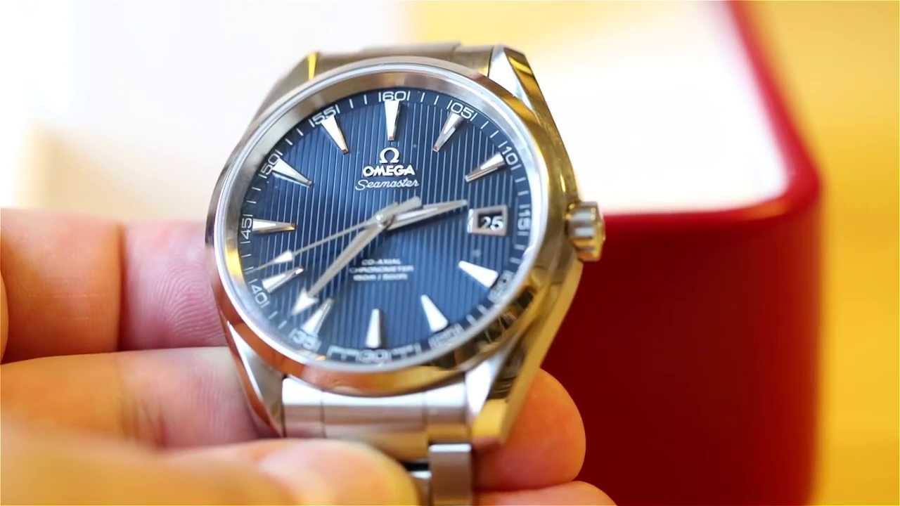 Omega Aqua Terra Blau 41 5
