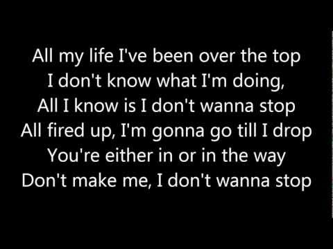 I Don't Wanna Stop - Ozzy Osbourne (LYRICS)