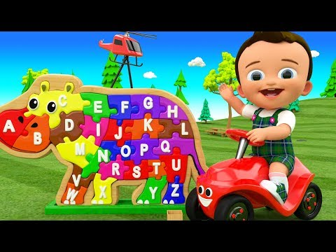 Phonics Song for Kids - Baby Fun Learning Alphabets for Kids with Hippopotamus 3D Wooden Puzzle Toy
