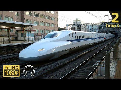 【作業用】新幹線の車窓と音 2時間20分 / Sound of Shinkansen trains and scenery from windows