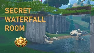 «NEW» SECRET WATERFALL ROOM! HOW TO GET INSIDE! | Fortnite