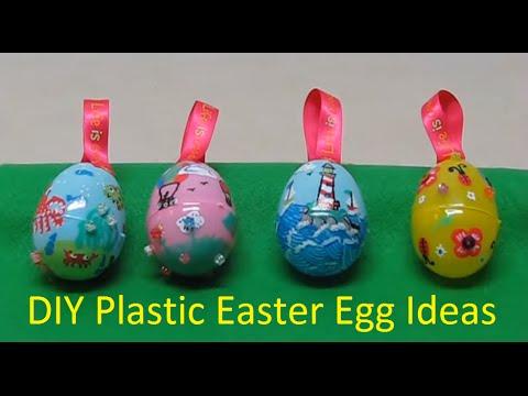 DIY Plastic Easter Eggs Ideas Craft Russian Subtitles