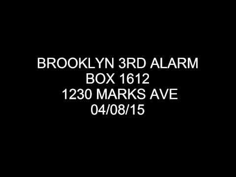 FDNY Radio: Brooklyn 3rd Alarm Box 1612 radio 04/08/15