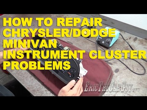 How To Repair Chrysler/Dodge Minivan Instrument Cluster Problems -EricTheCarGuy
