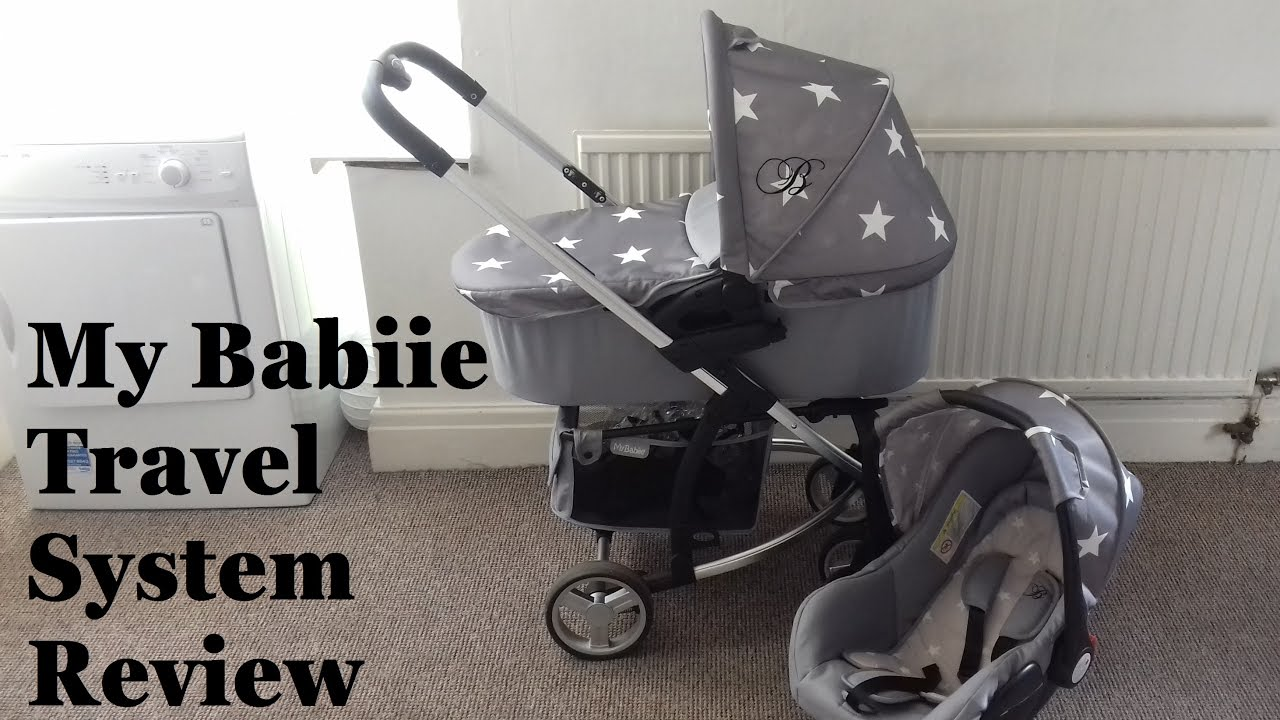 Grey Stars Travel System My Babiie Billie Faiers MB200