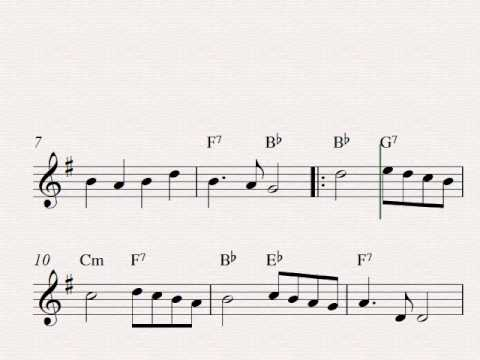 Angels We Have Heard On High - Free easy Christmas alto saxophone sheet music