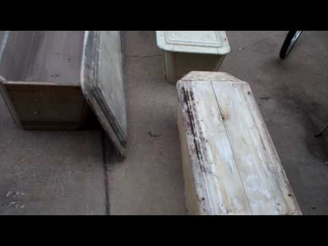 American reality Metal mike Hey Now Antiques Pickers casket coffin 3#