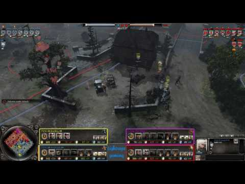 COH2 2v2 BadBoy (OK) & AssassiN (OH) vs E corp The Sage (SU) & Nerine (US)