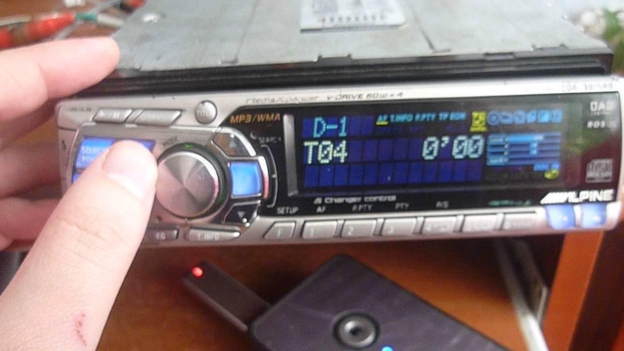 Alpine cda-9815 rb usb adapter anycar ai-net - YouTube